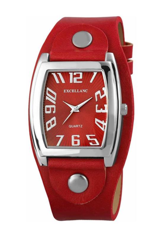 Trendi piros Excellanc női karóra EX17903TR