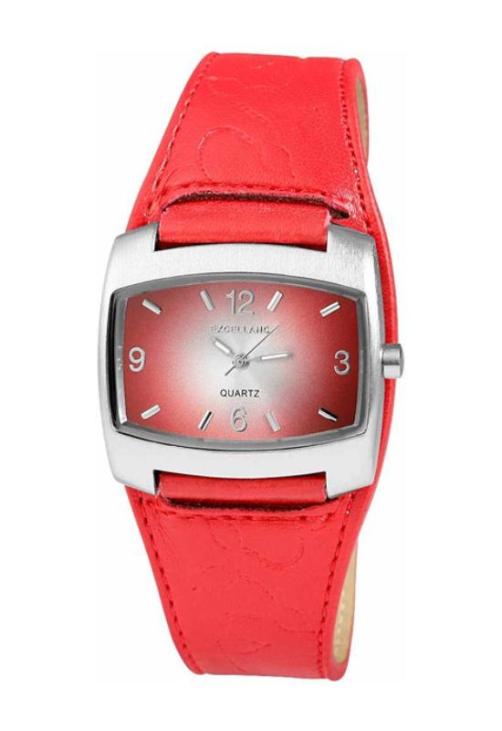 Trendi piros Excellanc karóra designbőr szíjjal EX17909TR