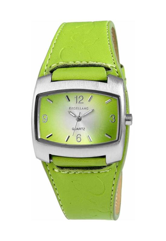 Trendi zöld Excellanc karóra virággal EX17923TR