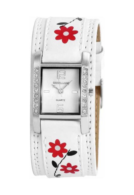 Trendi Excellanc fehér női karóra virággal EX17957TR