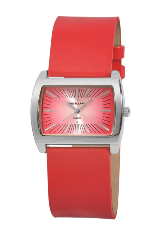 Excellanc piros trendi női karóra EX17959TR