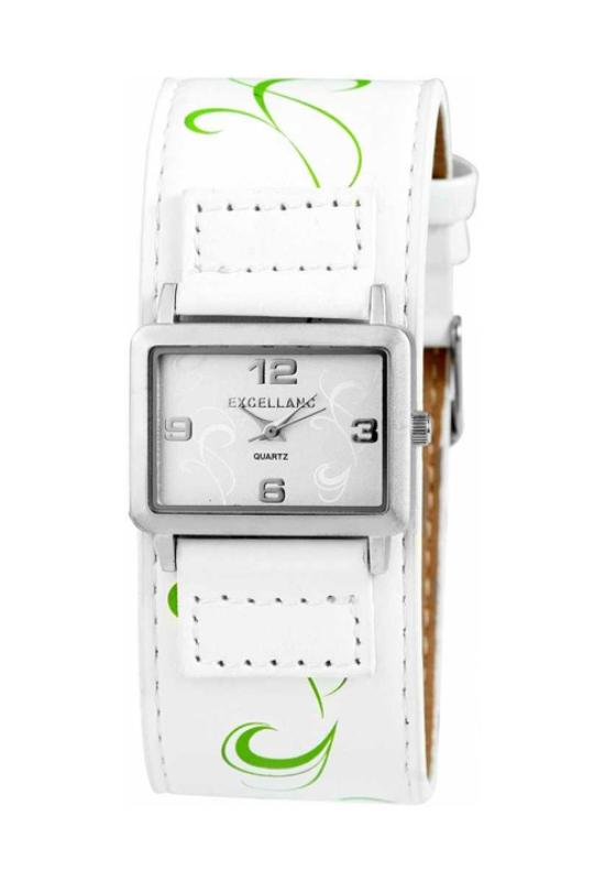 Trendi Excellanc fehér női karóra virággal EX17960TR