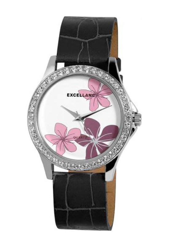 Trendi Excellanc fehér női karóra virággal EX17968TR