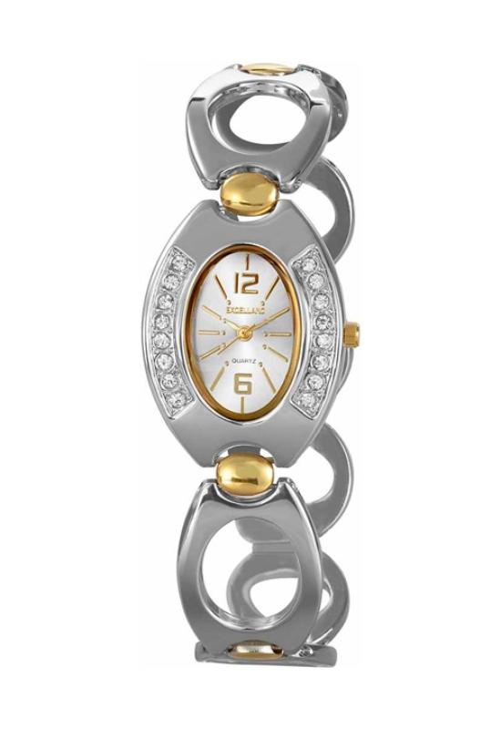Elegáns Excellanc arany-ezüst színű női karóra EX17973EL