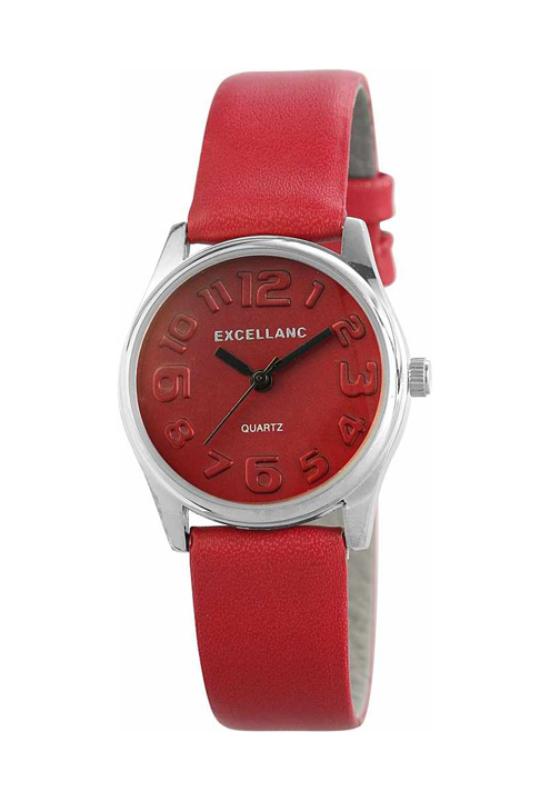 Trendi piros Excellanc női karóra EX17980TR