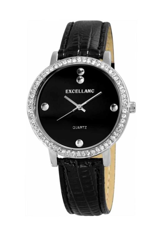 Trendi fekete Excellanc női karóra EX17995TR
