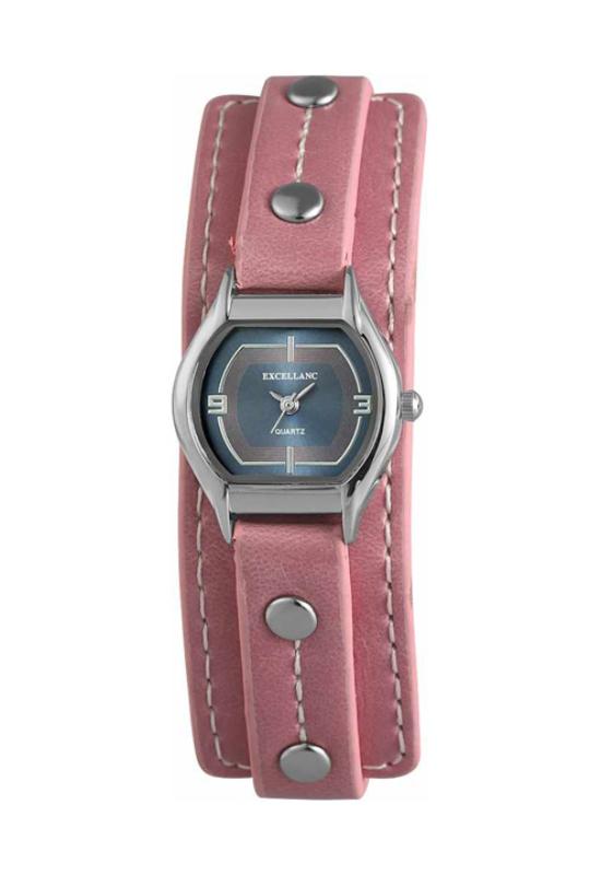 Retro rózsaszín Excellanc női karóra EX18028RE