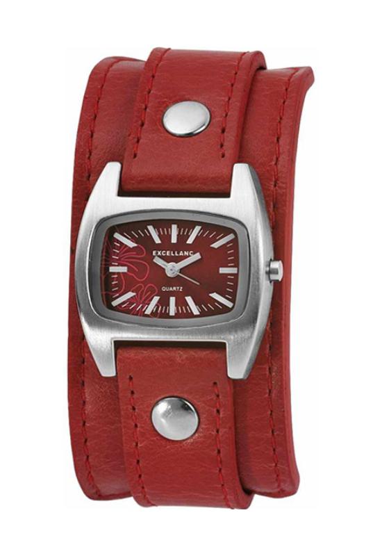 Piros Excellanc retro női karóra EX18038RE