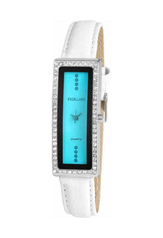 Trendi fehér Excellanc karóra türkiz számlappal EX18083TR