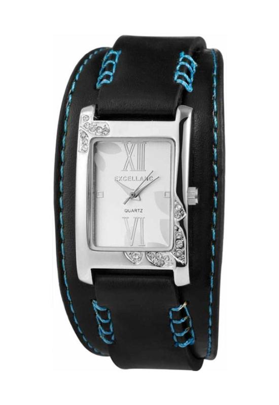 Trendi fekete-kék Excellanc női karóra EX18106TR