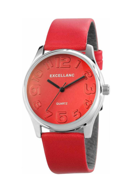 Trendi piros Excellanc női karóra EX18155TR