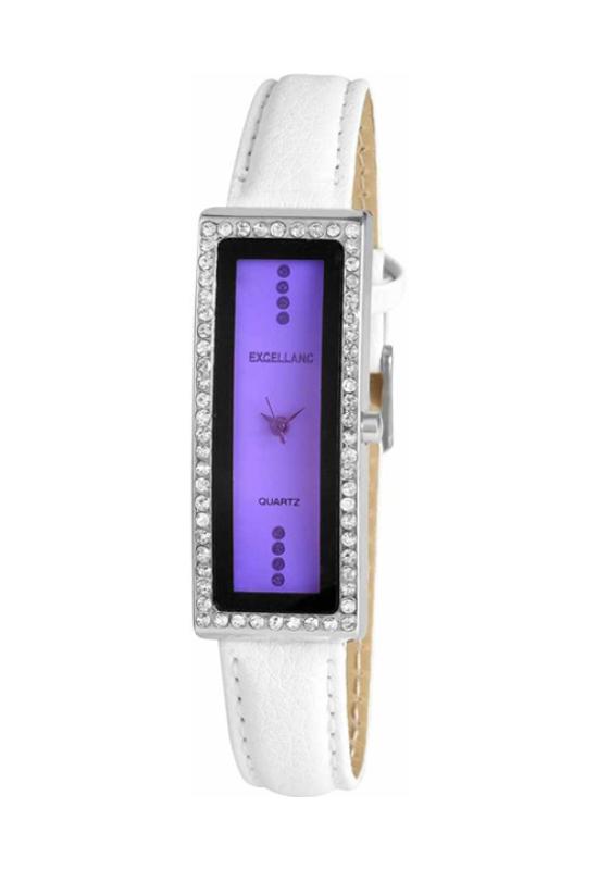 Trendi fehér Excellanc karóra PINK számlappal EX18183TR