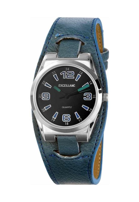 Trendi kék Excellanc retro női karóra EX18224RE