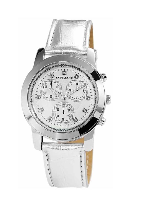 Trendi ezüst színű Excellanc női karóra strasszokkal EX18263TR