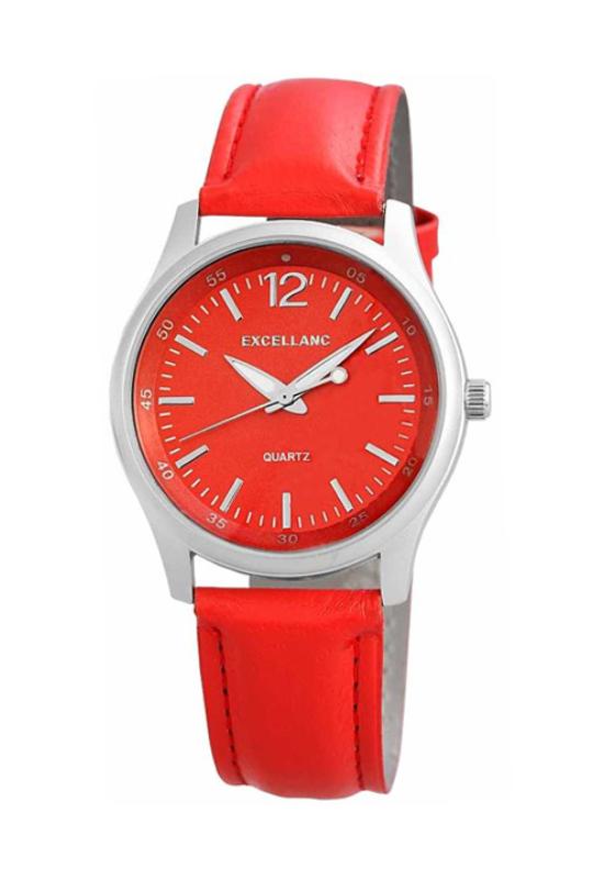 Trendi piros Excellanc női karóra EX18279TR