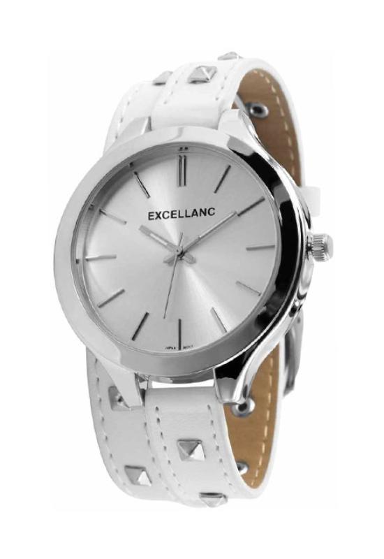 Extravagáns fehér női karóra szegecsekkel EX18325EX