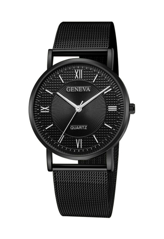 Geneva Omega Black fémszíjas női karóra GE15090EX