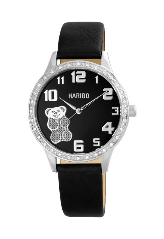 Trendi fekete Haribo női karóra HA4003TR
