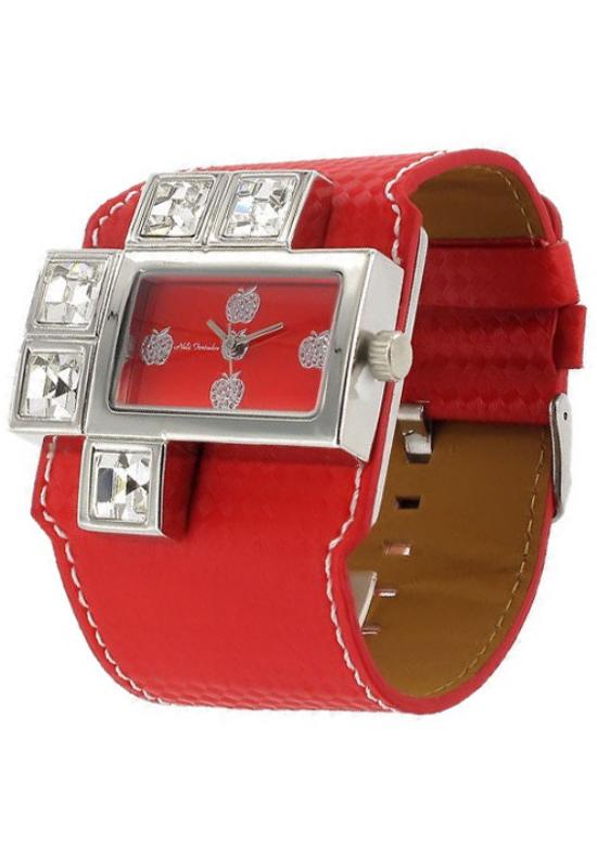 Extravagáns piros Nele Fortados női karóra NF1555EX