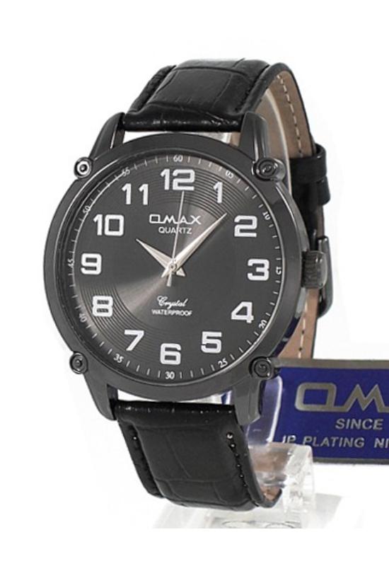 OMAX elegáns fekete férfi karóra OM1215KL
