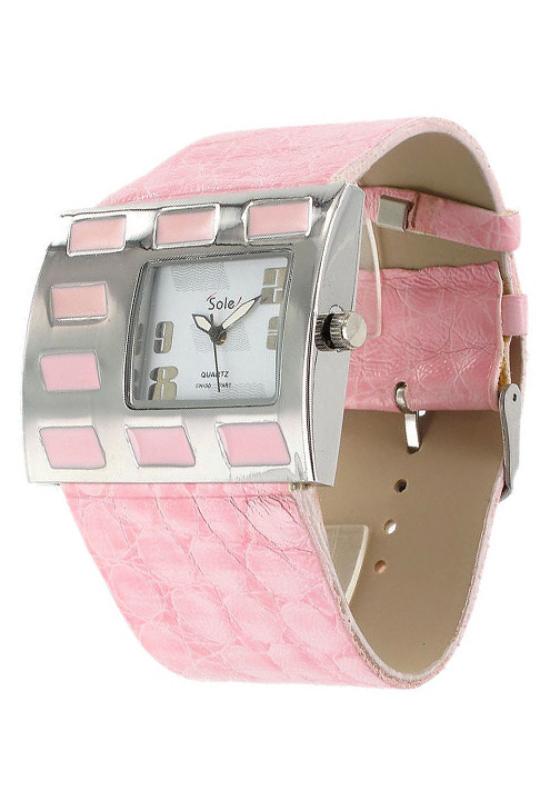 Trendi Sole rózsaszín női karóra SO1032TR