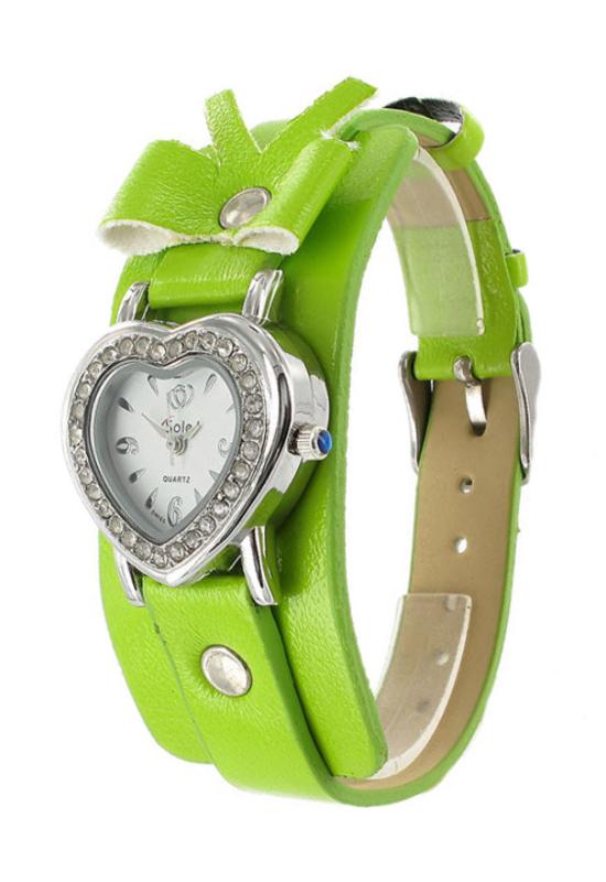 Trendi szíves Sole zöld női karóra SO1036TR