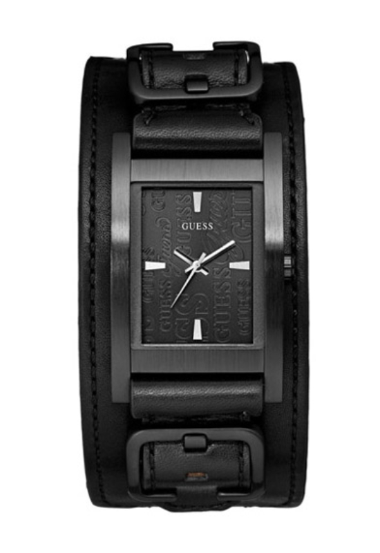 Guess Male Buckle Up fekete férfi karóra W85094G1